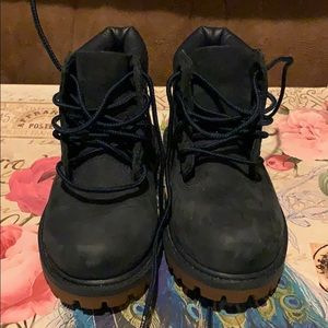 Kids Blue Unisex Timberland Hiking Boots Size 6